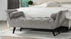 Alma Tufted Entryway Bench, Opal Grey