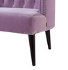 Celine Tufted Settee, Lavender