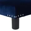 Jules Square Accent Ottoman, Velvet, Navy Blue
