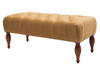 Lyon Tufted Entryway Accent Bench, Buckthorn Brown