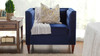 Jack Tuxedo Arm Chair, Navy Blue