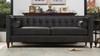 Jack Tuxedo Sofa, Dark Charcoal Grey