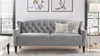 """Ken 74"""" Upholstered Button Tufted Sofa"""