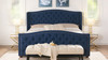 Marcella Upholstered Bed, King, Dark Sapphire Blue