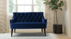 Stella Tufted Settee, Navy Blue
