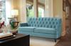 Kelly Hand Tufted Sofa, Arctic Blue