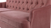 Kelly Hand Tufted Sofa, Ash Rose