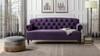 Mackenzie Tufted Rolled Arm Sofa, Purple