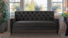 Xander Tufted Sofa, Dark Charcoal Grey