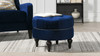 Dawn Tufted Round Ottoman, Navy Blue