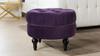 Dawn Tufted Round Ottoman, Purple