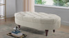 Petra Tufted Accent Bench, Taupe