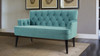 Mia Tufted Accent Settee, Arctic Blue