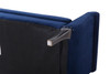 Olivia Roll Arm Entryway Bench, Navy Blue