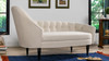 Kayleigh Tufted Chaise Lounge, Sky Neutral