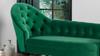 Kayleigh Tufted Chaise Lounge, Ultramarine Green
