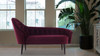 Kayleigh Tufted Chaise Lounge, Burgundy