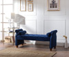 "Jocelyn 60"" Roll Arm Lounge Entryway Bench"