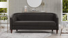 Annette Cabriole Sofa, Dark Charcoal Grey