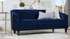 Annette Cabriole Sofa, Navy Blue
