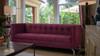Jackson Tuxedo Sofa, Burgundy