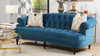 La Rosa Chesterfield Sofa, Satin Teal