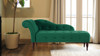 Samuel Tufted Chaise Lounge, Right Arm Facing, Ultramarine Green