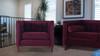 Jack Tuxedo Arm Chair, Burgundy