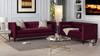 Jack Tuxedo Sofa, Burgundy