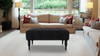 Hollis Entryway Bench, Jet Black