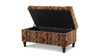 Naomi Entryway Storage Bench, Multicolored