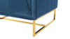 Royce Accent Chair, Satin Teal