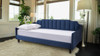 Edgar Channel Tufted Sofa Bed Daybed, Dark Sapphire Blue