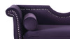 Luna Upholstered Loveseat, Purple