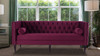 Diane Button Tufted Tuxedo Sofa, Burgundy