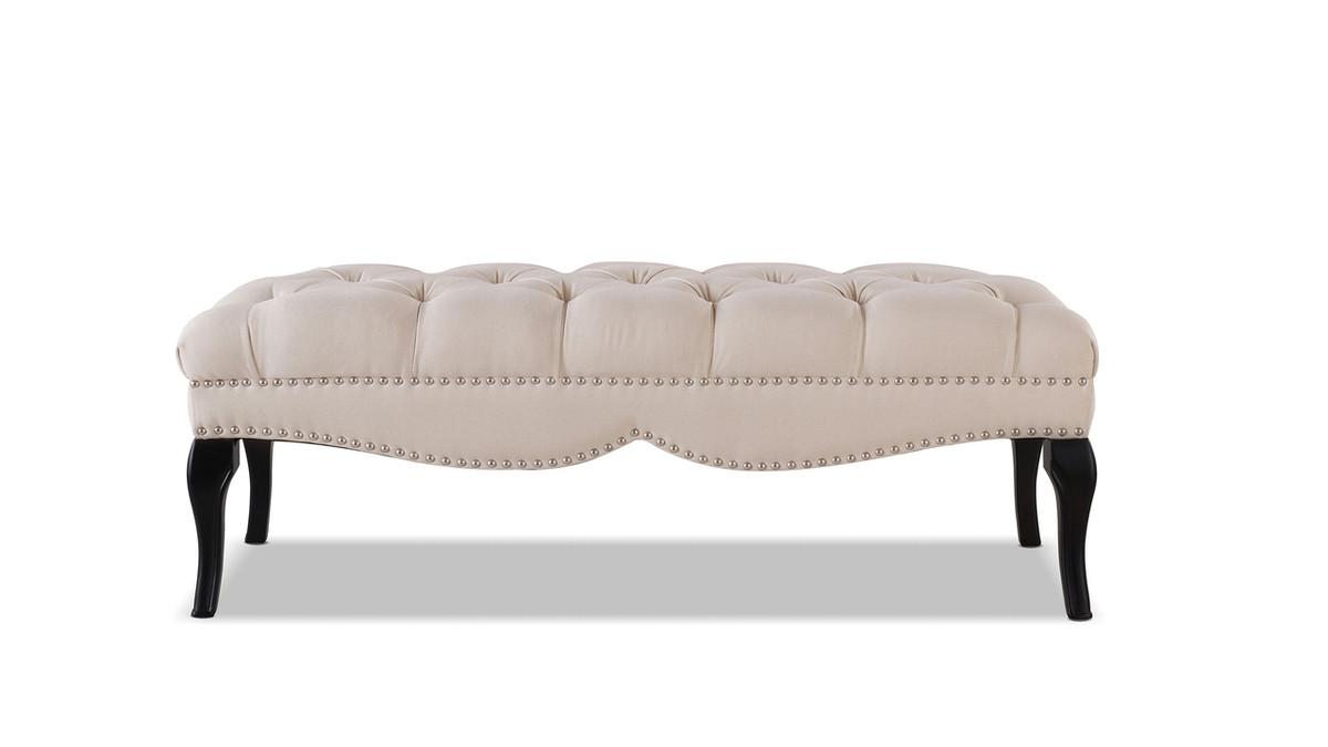 Camari Upholstered Bench, Sky Neutral