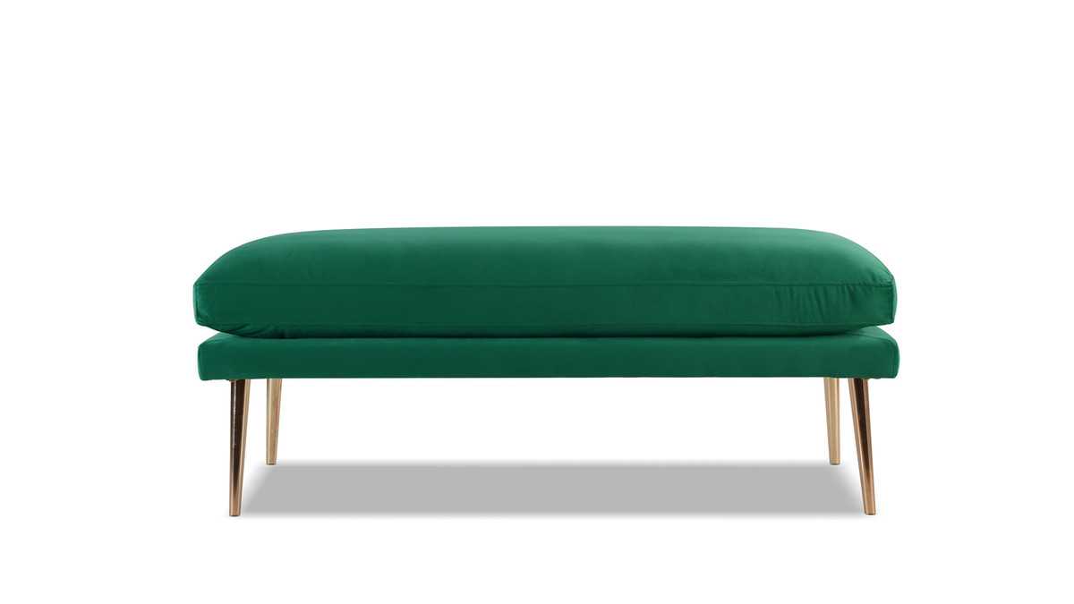 Oliver Entryway Bench, Ultramarine Green