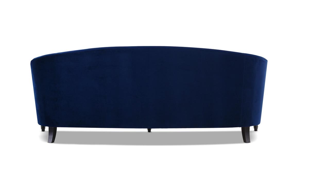 Stewart Curved Back Sofa Navy Blue Jennifer Taylor Home