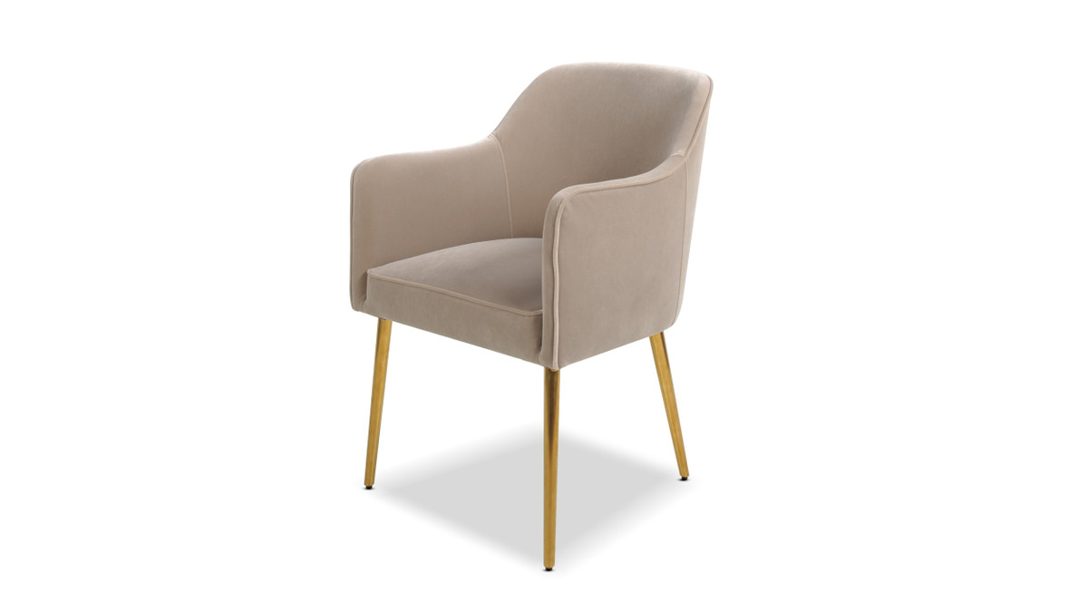 Ivy Mid-Century Modern Accent Desk Chair, Mink