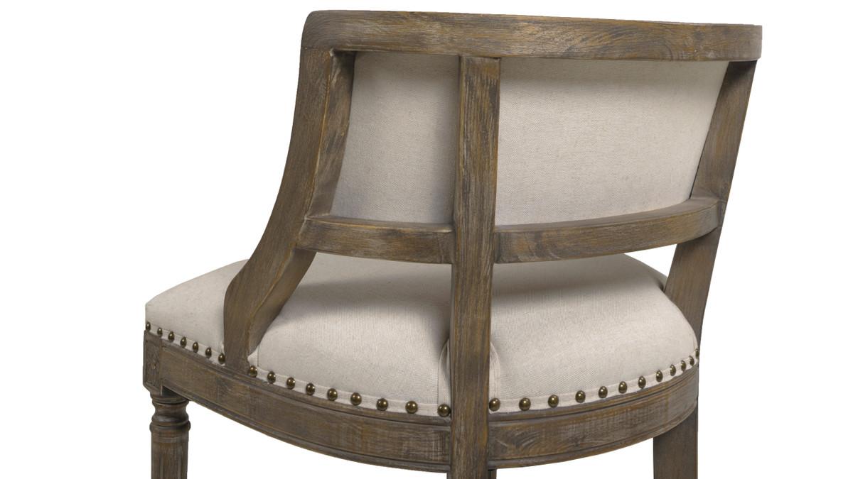 Amazing Paris 26 Farmhouse Counter Height Bar Stool With Backrest Light Beige Machost Co Dining Chair Design Ideas Machostcouk