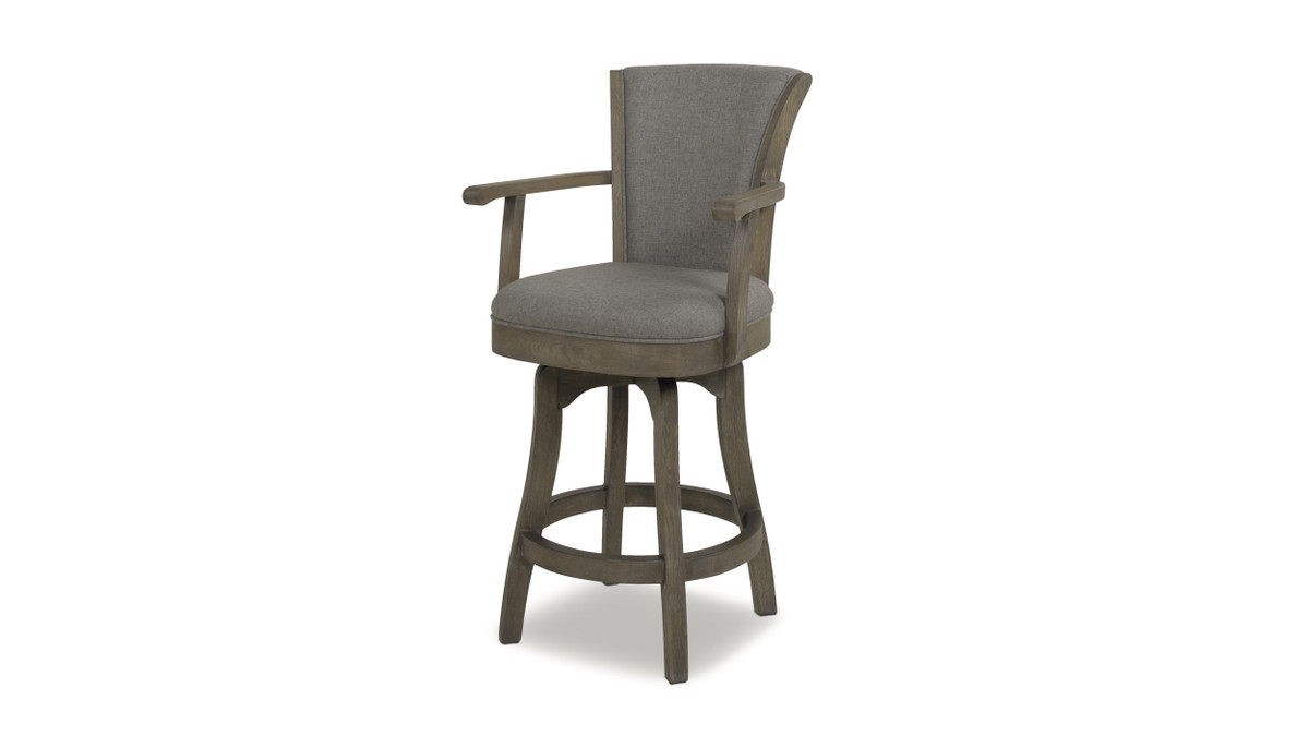 "Williams 27"" Swivel Bar Stool, Dark Heathered Grey"