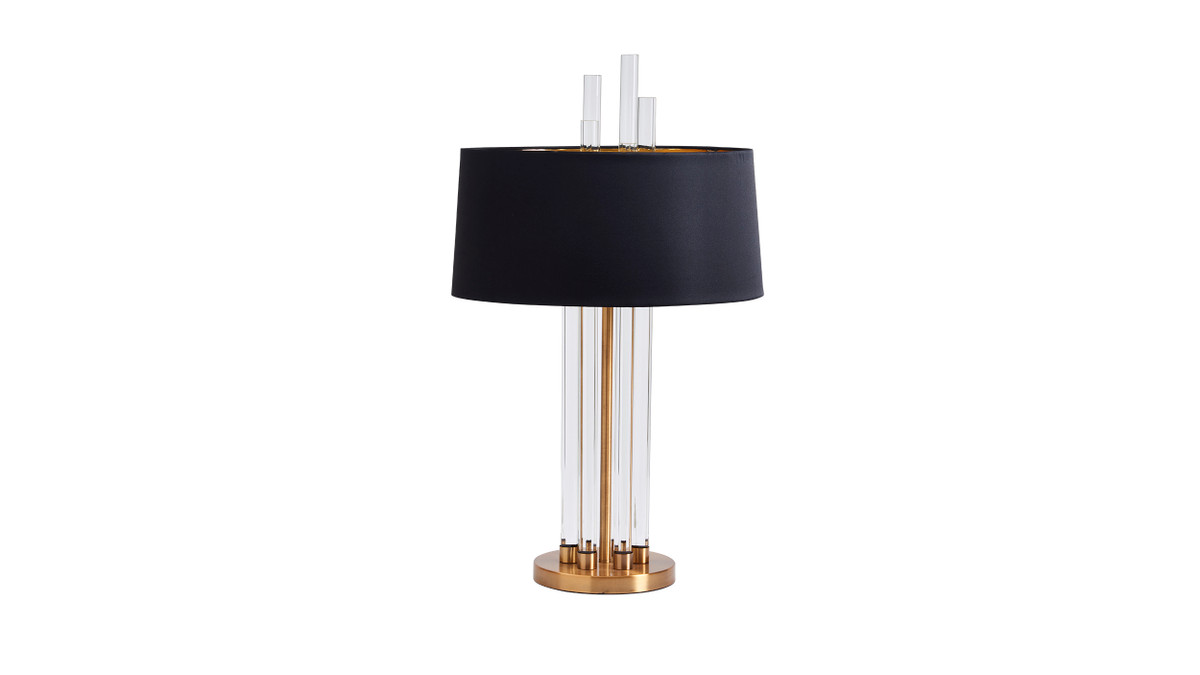 "16"" Antibes Modern Crystal Accent Table Lamp"