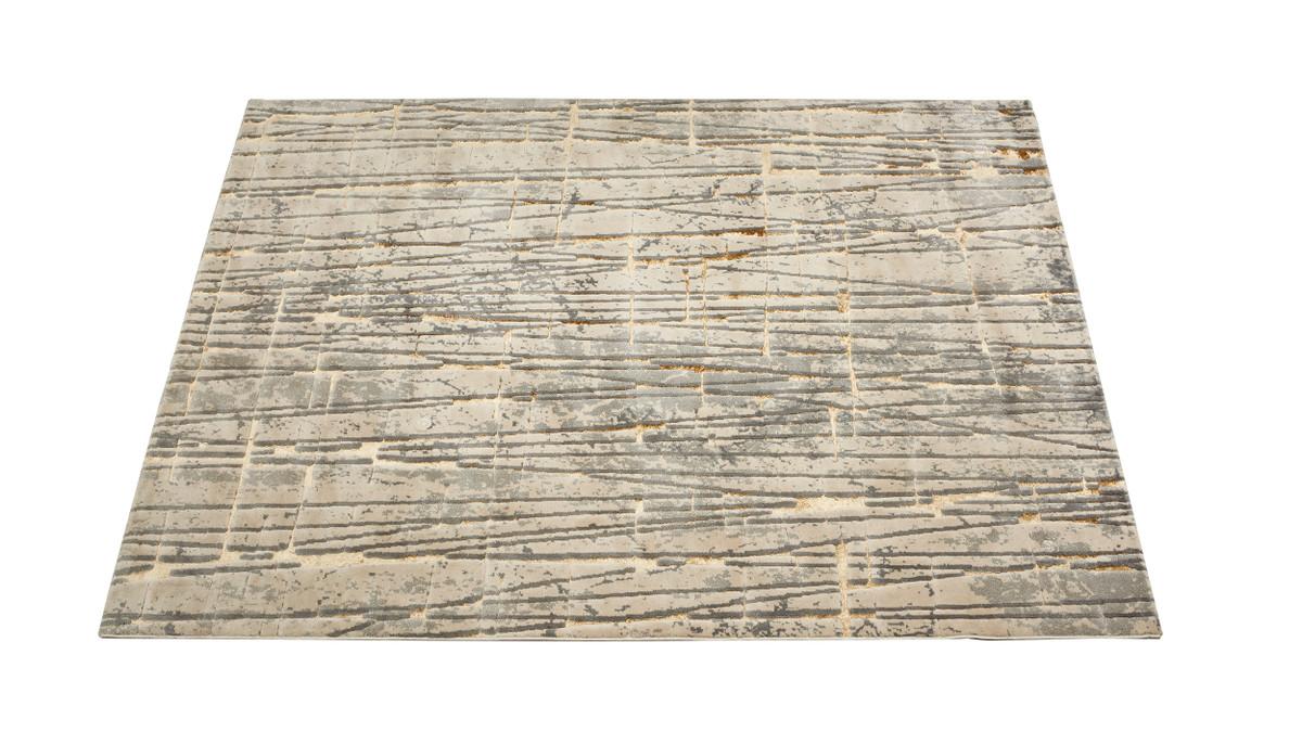 Mara Cashmere Area Rug, Stone Grey, 6.5' x 9.5'