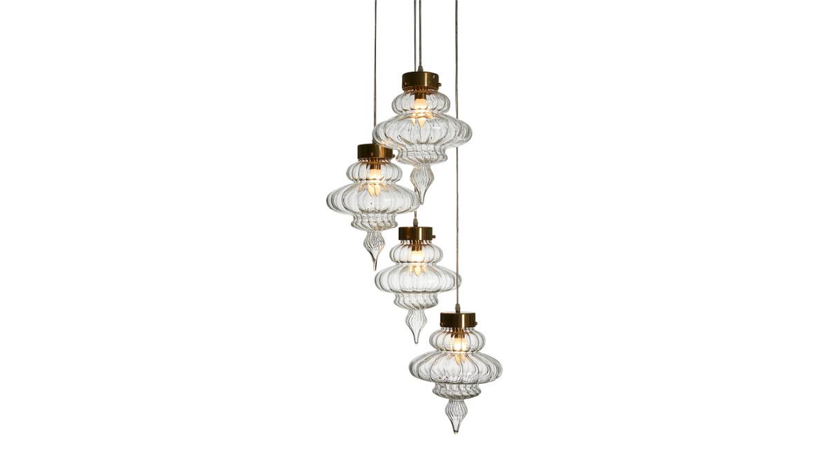 Vannes 4 Pendant Glass Hanging Lamp