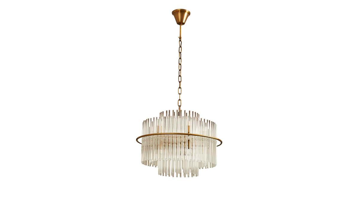 """19.5"""" Avignon Crystal Glass Chandelier"""