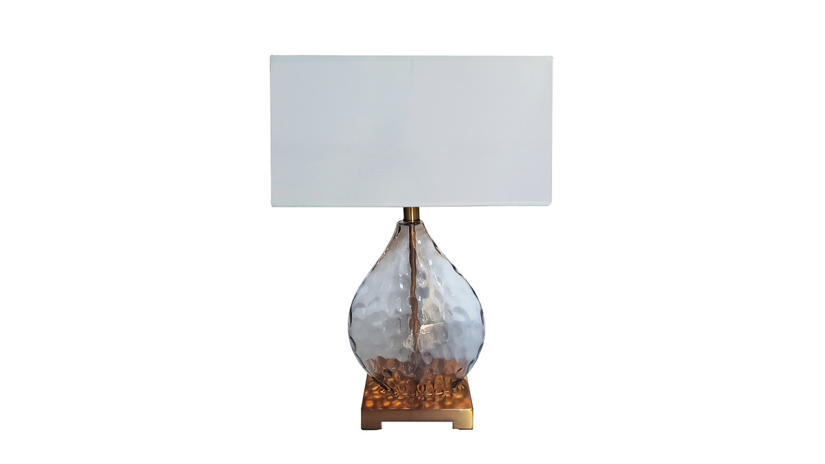 """14"""" Bourges Modern Table Lamp with Box Shade"""