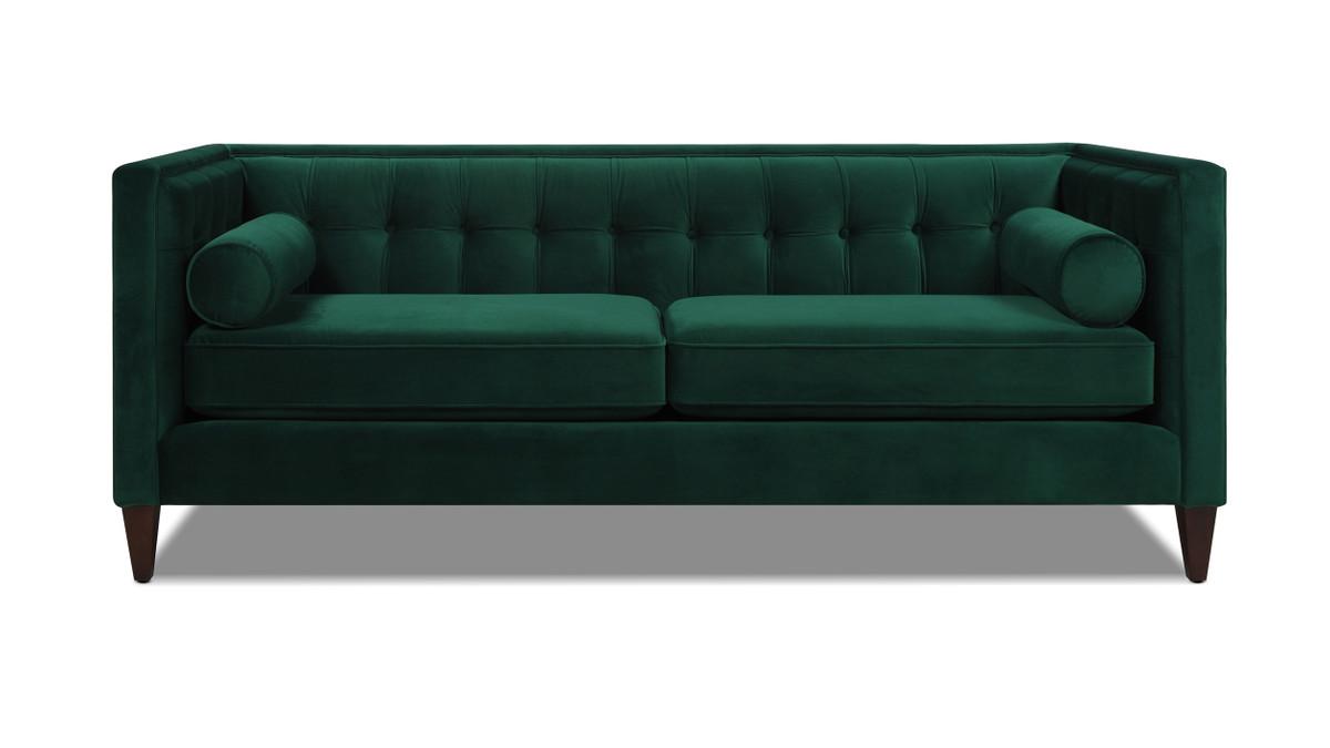 Jack Tuxedo Sofa, Evergreen