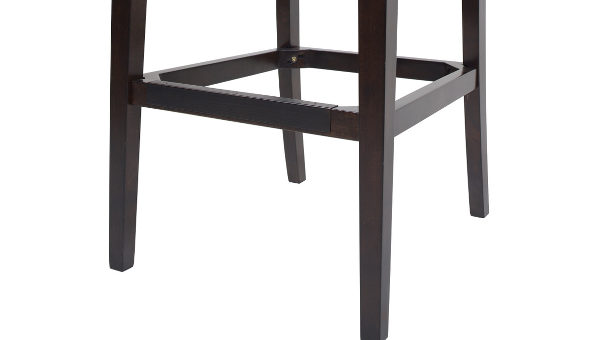 Richmond 26 Armless Wingback Tufted Counter Height Bar Stool Vintage Brown Faux Leather Jennifer Taylor Home