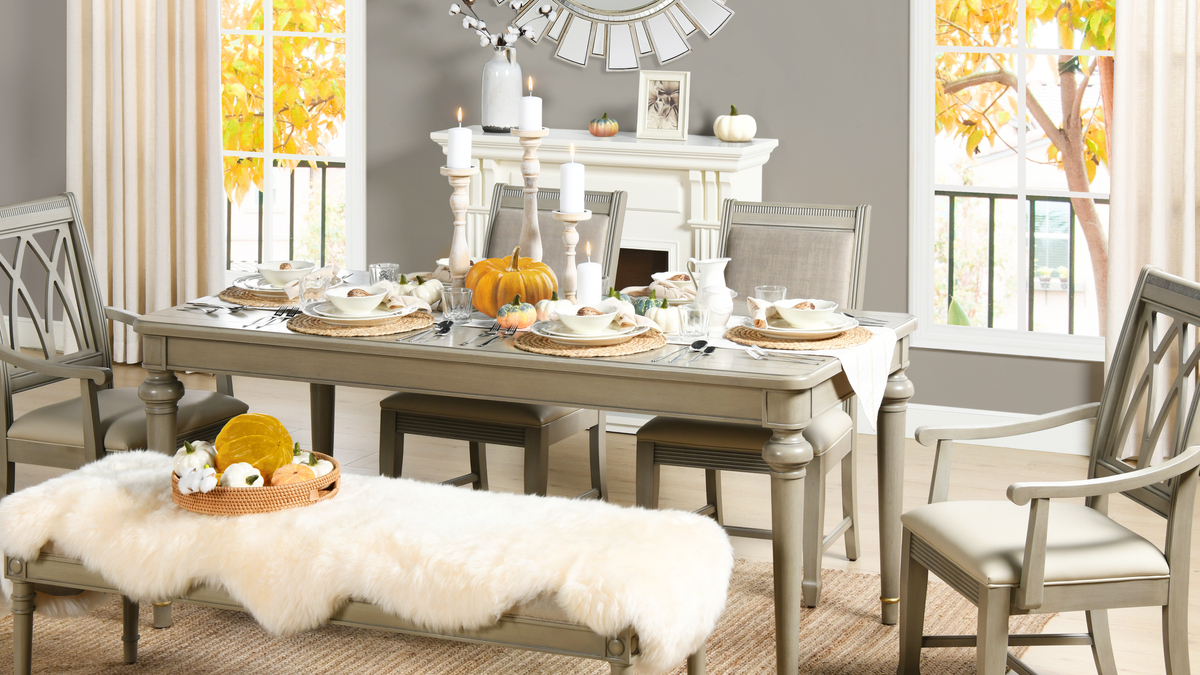 Dauphin 71 Rectangular 6 Seater Dining Table Grey Cashmere Jennifer Taylor Home