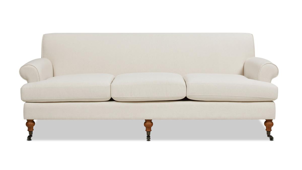 Alana Lawson Recessed Arm Sofa, Light Beige